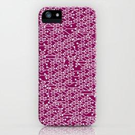 Microchip Pattern (Purple) iPhone Case