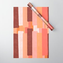 Line In Coral #society6 #abstractart Wrapping Paper