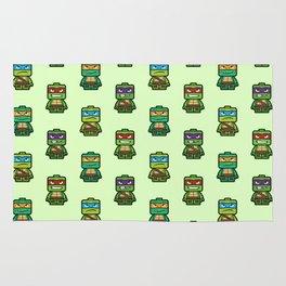 Chibi Ninja Turtles Rug