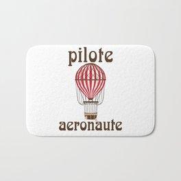 Retro Ballooning Balloonist Hot Air Balloon Pilot Gift Bath Mat