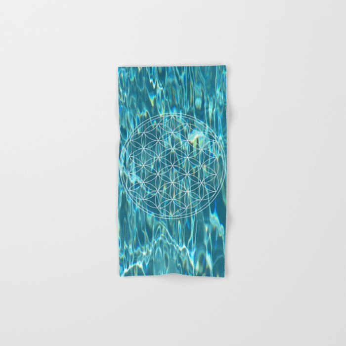 Flower of life in the water Hand & Bath Towel