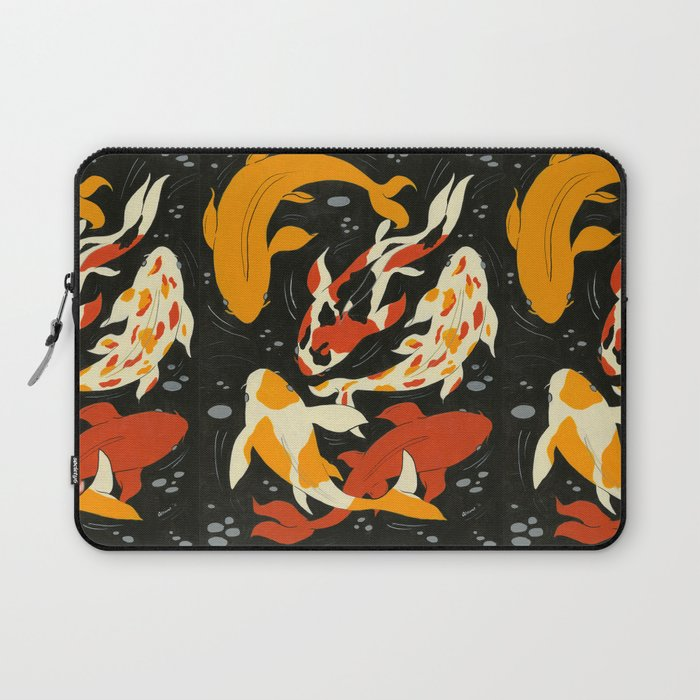 Koi in Black Water Laptop Sleeve