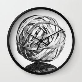 Rubber Band Ball Wall Clock
