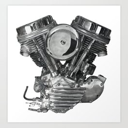 PanHead Engine - Pencil Drawing Art Print