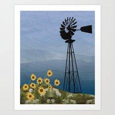 Wind Pump American Style Windmill Art Print