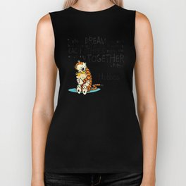 Calvin and Hobbes Dreams Quote Biker Tank