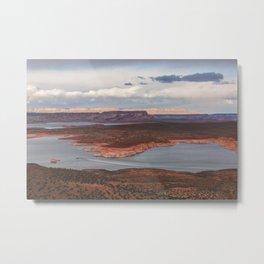 Cutting Through Lake Powell Metal Print
