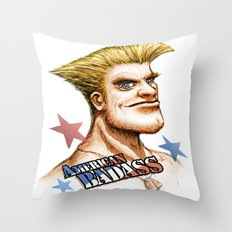 American Badass Throw Pillow