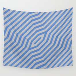 Symmetric diagonal stripes background 16 Wall Tapestry