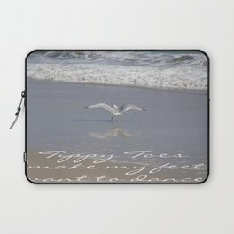 Tippy Toes Make My Feet Want To Dance Laptop Sleeve