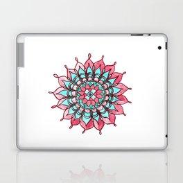 Pink and Turquoise Mandala Watercolor Painting Laptop & iPad Skin