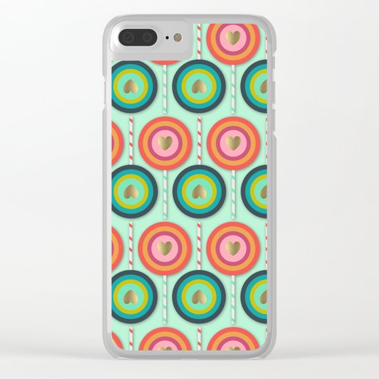 Love and Lollipops Clear iPhone Case