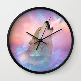Dream By Day (Wolf Dreams - Remix Series) Wall Clock
