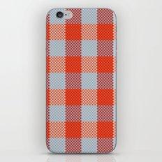 Pixel Plaid - Autumn Bark iPhone & iPod Skin