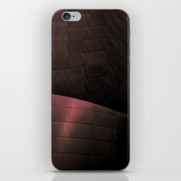 Deep Red architectural abstract of the LA Phil designed by Frank Gehry iPhone Skin
