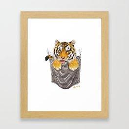 Pocket-Sized Gabrielle Tiger Framed Art Print