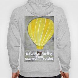 Yellow hot air balloon Hoody