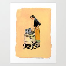Saint Julia, Patroness of Kitchens Art Print