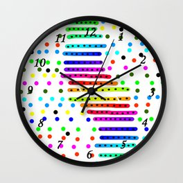 Rainbow 21 Wall Clock