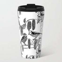 Blue Tits and Catkins Travel Mug