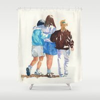 best friends Shower Curtains featuring Best Friends by MadDog