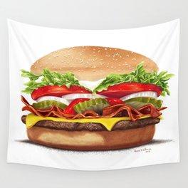 Bacon Cheeseburger by dana alfonso Wall Tapestry