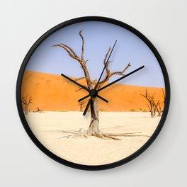 Deadvlei Namibia Desert Dead Trees Wall Clock