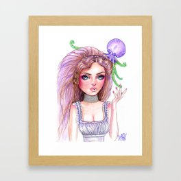 Liliana Octopus Girl Fantasy Surreal Art Framed Art Print