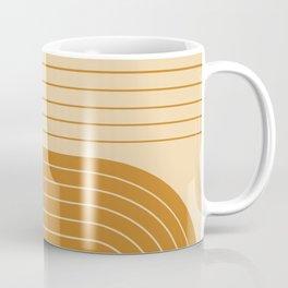 Two Tone Line Curvature XXXII Coffee Mug