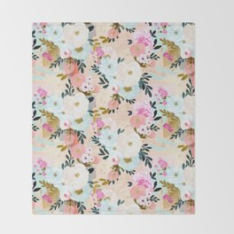 Florence Painterly Floral Throw Blanket