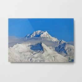 Mont Blanc from Les Arcs French Alps France Metal Print