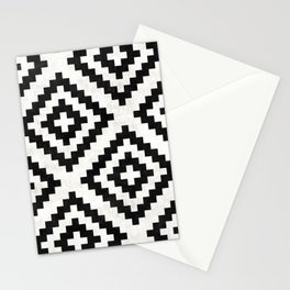 Urban Tribal Pattern No.18 - Aztec - Black and White Concrete Stationery Cards
