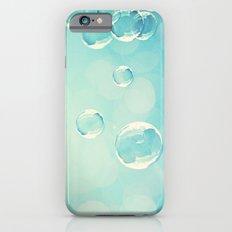 Bubble Photography, Laundry Room Soap Bubbles, Aqua Teal Bathroom Photography Slim Case iPhone 6s
