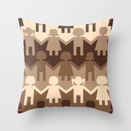 Sisterhood Paper Chain Throw Pillow