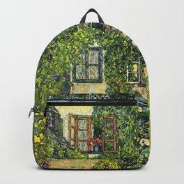 """Gustav Klimt """"The House of Guardaboschi"""" Backpack"""