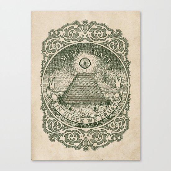In Block We Trust (Green) Canvas Print