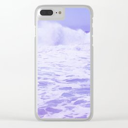 Purple Ocean Clear iPhone Case