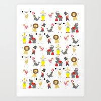 circus Art Prints featuring Circus by Lydia Meiying