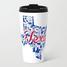 SMU Texas Landmark State - Red and Blue Southern Methodist University Theme Travel Mug