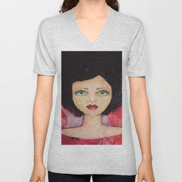 Bella SASS Girl - Cyndi - SASS = STRONG and SUPER SMART Unisex V-Neck