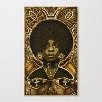 erykah badu Canvas Prints featuring Erykah Badu by Taylor Francis