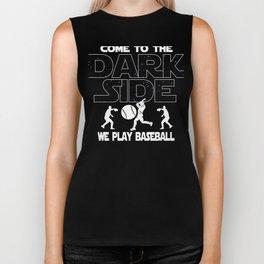 Baseball Dark Side Funny Gift Biker Tank