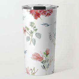 Autumn Floral Pattern Travel Mug