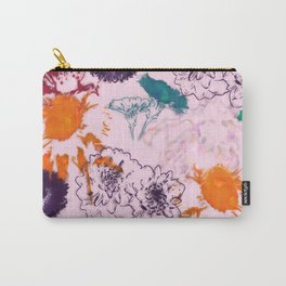 fall floral pink Carry-All Pouch