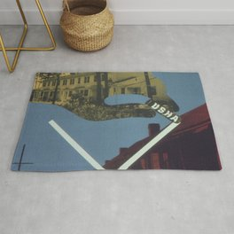Vintage poster - Cross Out Slums Rug