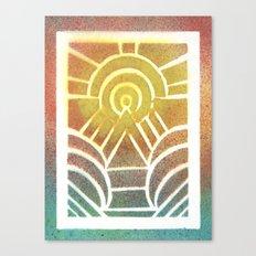 Drawing Meditation: Stencil 2 - Print 2 Canvas Print