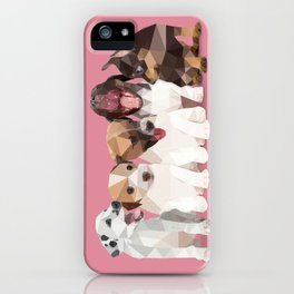 Low Poly Puppies iPhone Case
