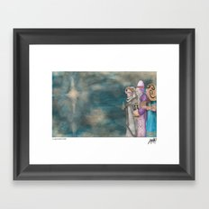 Michael's First Christmas, Three Wise Men Framed Art Print