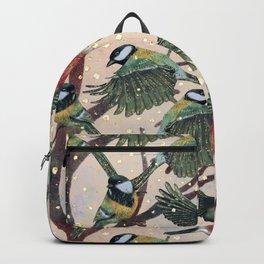 Magical Winter Wild Bird pattern Backpack