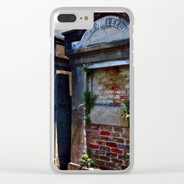 Lafayette Cemetery - Red Brick and Fern Clear iPhone Case
